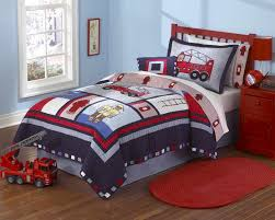 fireman fire truck quilt boys bedding set full queen or twin
