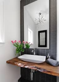 Lovely Vanity Design With Charcoal Grey Bathroom Tiles Organic - Organic bathroom design
