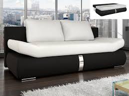 canap 2 places convertibles canapé convertible en simili blanc et noir jaden