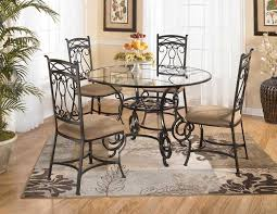 glass table and chairs set glass top dining room tables and
