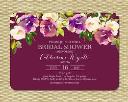 bridal shower brunch invitations wedding shower invitation burgundy aubergine purple plum