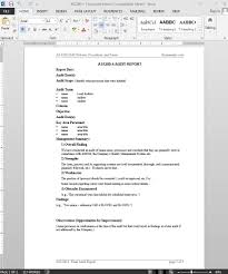 template for audit report as9100 audit report