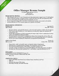 resume for office manager resume templates