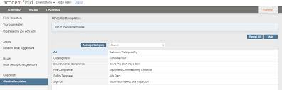 add a checklist template to your project aconex support central