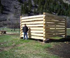 How To Build A Shed Out Of Scrap Wood by How To Build A Log Cabin With Dovetail Notches 7 Steps With