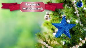 berry wreath nordic ornaments brave new home