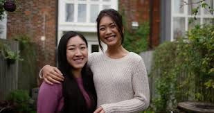 Interacial Lesbians - asian lesbian couple get a key to their new home shot on red epic