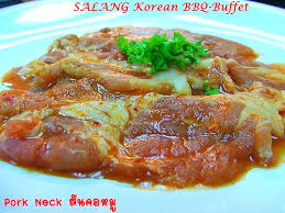 buffet pour cuisine ส นคอหม pork neck หน งในช ดbbq buffet เกาหล ร านซาล ง