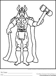 Thor Coloring Pages Ppinews Co Thor Coloring Page