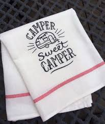 camper decor kitchen dish towel hanging by makingsomethinghappy
