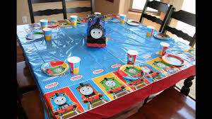 How To Decorate Birthday Party At Home by Cool Thomas The Train Birthday Party Ideas Youtube