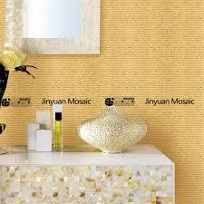 gold rectangular mosaic bathroom tile ideas jinyuan mosaic 24k