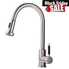Stainless Steel Kitchen Faucets Pull Out Vapsint Best Modern High Arch Stainless Steel Single Handle