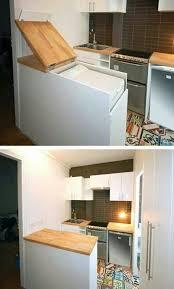machine a laver dans la cuisine encastrer lave linge pour gagner de la place le dissimuler sous