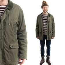 Green Parka Jacket Mens Coat Down Coat Part 944