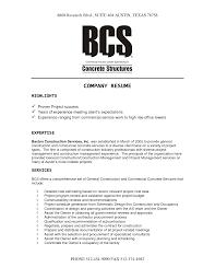 corporate resume exles sle company resume pertamini co