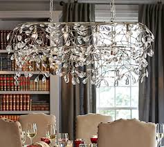 Big Chandeliers For Sale Bella Crystal Rectangular Chandelier Pottery Barn