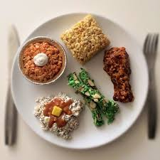this plate of thanksgiving dinner is made entirely of rice krispies