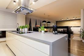 kitchen gray and white modern kitchen island with oven 75