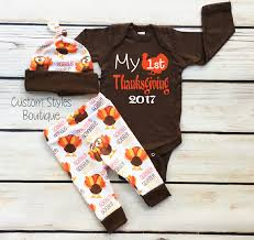 baby boys thanksgiving brown infant bodysuit