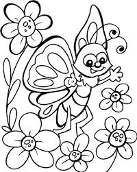 butterfly coloring pages for kids simple butterfly coloring