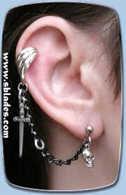 cuff earring blade ear cuff earring pirate earcuff chains
