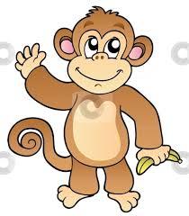 hanging monkey template cutcaster photo 100913746 cartoon waving