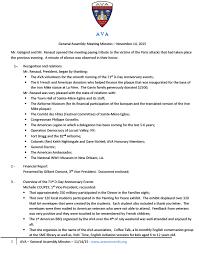 Ava Sessions Assembly General Minute U2013 Novembre 14 2015 Amis Des Vétérans