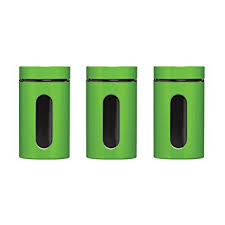 lime green kitchen canisters 3 kitchen canister storage stainless steel jars in various