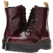 womens boots vegan dr martens vegan jadon ii 8 eye boot cherry cambridge