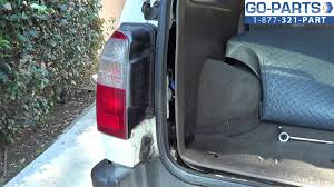 4th gen 4runner led tail lights replace 1996 2002 toyota 4runner tail light bulb how to change