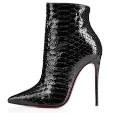 christian louboutin so kate 120mm python leather ankle boots