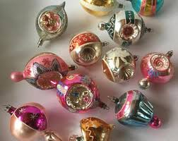 vintage glass ornaments etsy