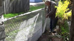 How To Cover Old Concrete by Converting My Chain Link Fence To A Stone Wall Youtube