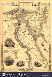 Alexandria On A Map 1851 Map Of Egypt With Engravings Of The Cairo Alexandria