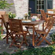 outdoor u0026 garden solid wood outdoor patio dining set with square