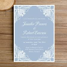 blue wedding invitations dusty blue lace floral winter wedding invitations ewi383 as low as