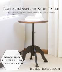 Side Table Plans Ballard Inspired Side Table U2039 Build Basic