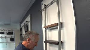 stainless steel library ladder demonstration youtube