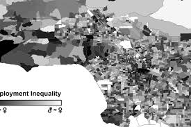 Mapping The World With Art by Mapping The Los Angeles Neighborhoods Where Men Have Jobs And