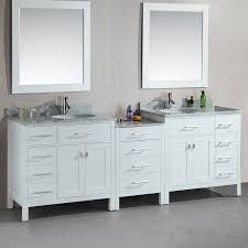 Bathroom Vanities With Top by Shop Design Element London White Undermount Double Sink Bathroom