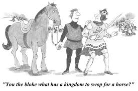 this is a comic makes fun of king richard iii in his final scene