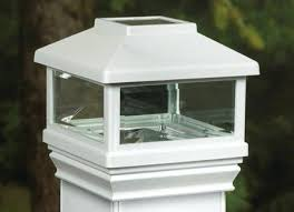 best of solar deck post lights or solar post cap 4 5 8 black 67