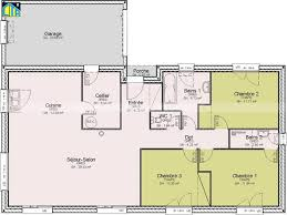 plan plain pied 3 chambres plan maison de plain pied 3 unique plans de maison plain pied 3