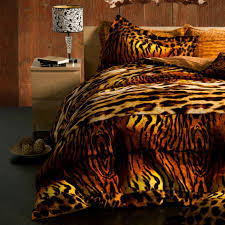 tiger bedding sexy animal print duvet cover set