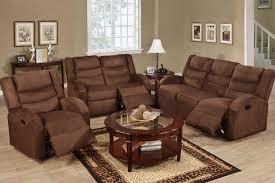 Black Recliner Sofa Set Sofas Center Brown Microfiber Reclining Sofa Set Reviews And