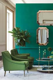 color clash emerald and teal emily henderson