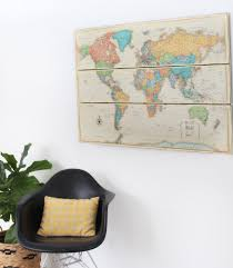 Large Wall World Map by Large World Map Rustic Map On Wood Shabby Chic Farmhouse