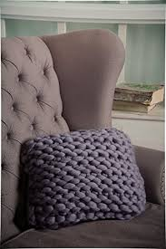 amazon com chunky knit pillow wool knit pillow decorative pillow