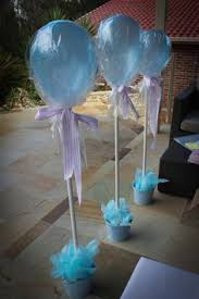 Ideas For Baby Shower Centerpieces For Tables by Aqua Blue Lime Green First Birthday Party Birthday Party